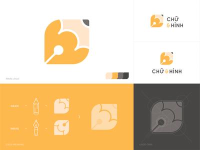 Logo Chữ & Hình icon write draw pencial pen logodesign vector logo design illustration graphicdesign