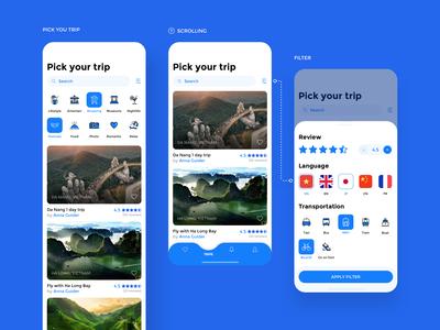 Pick your trip - App concept