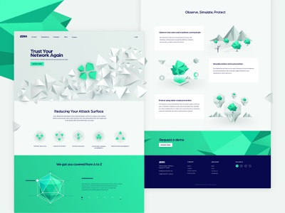 cyber security homepage illustration web design brand development brand design landing page icon ui israel tel aviv low poly vector illustration cyber security
