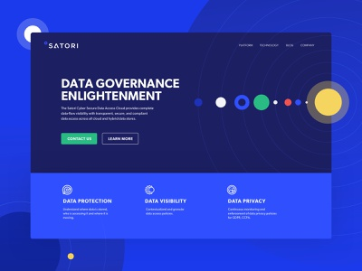 Data governance landing page colorful landing page design cyber security home page website web website design branding illustration vector product design israel tel aviv ui