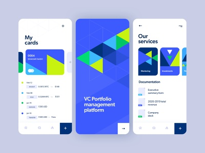 VC management tool mobile app design mobile app ux vector illustration branding product design israel tel aviv ui