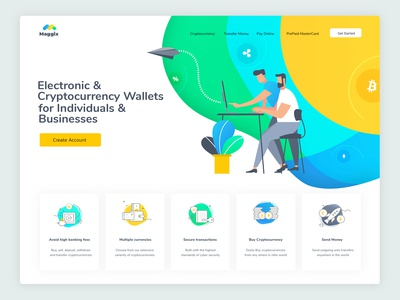 Maggix cryptocurrency trading platform Landing page