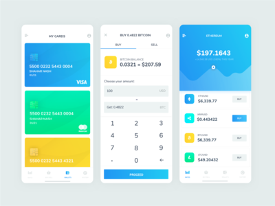 Cryptocurrency trading mobile app