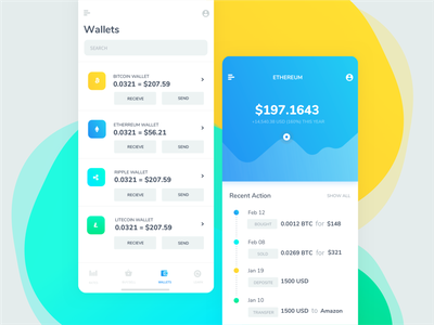 Cryptocurrency trading mobile app product design ios mobile app app design crypto currency crypto wallet mobile white app ux ui tel aviv israel
