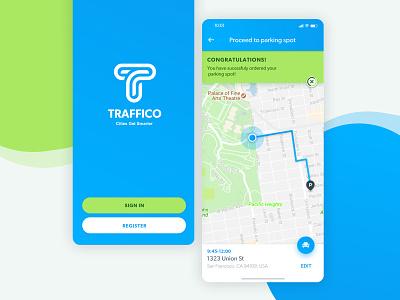 Traffico Mobile App appdesign branding product design ios map mobile interface app ux ui tel aviv israel