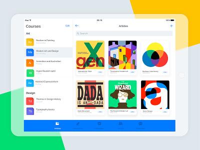 Crambox iPad App mobile art education ipad application ipad ipad app ios white interface app israel tel aviv ux ui