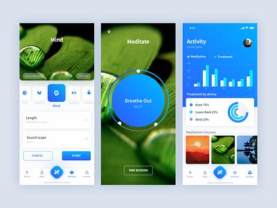 Mindfulness App mobile app design mobile app product design ios design white interface app israel ux tel aviv ui