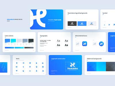 Healables Brand Guide brand guidelines brand guide app ui tel aviv israel typography white blue logo brand identity brand design branding