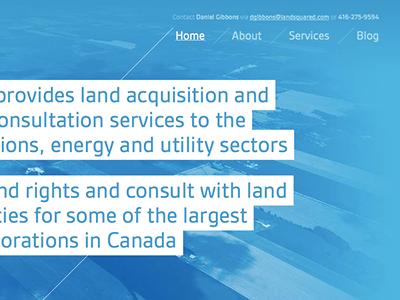 LandSquared home page graphic design front-end development interactive design responsive design responsive layout