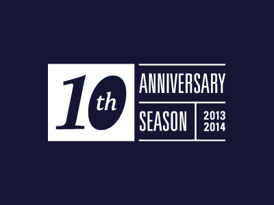 10th Anniversary Logo identity acting up stage