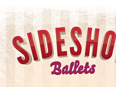 Dribble Sideshow print poster