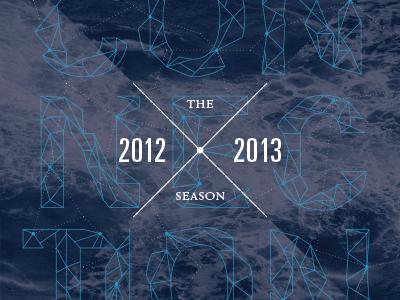 2012/13 Season Brochure print acting up stage array design