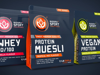Naduria Sport ™ / 3D Modeling, Label design for Supplement Range