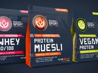 Naduria Sport ™ / 3D Modeling, Label design for Supplement Range