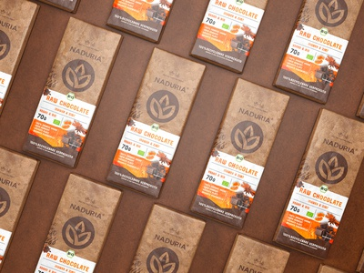 Naduria ® / Plastic Free Package Concept for RAW Chocolate Bar