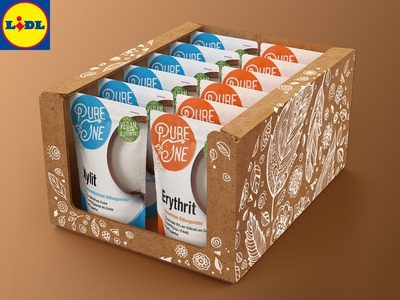 Pure One ™ / 3D Prototype of Facing Carton for LIDL Market Shelf