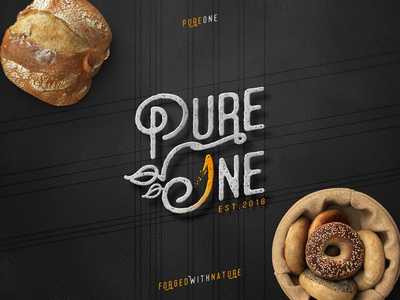 Pure One ™ / Logotype Design, Monochrome and Contrast Test