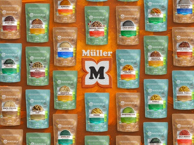 Naduria ® / Plastic Free Package, Product Range for Müller