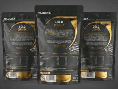 Quinoa Gold / Pouch Prototype & Label Design Back