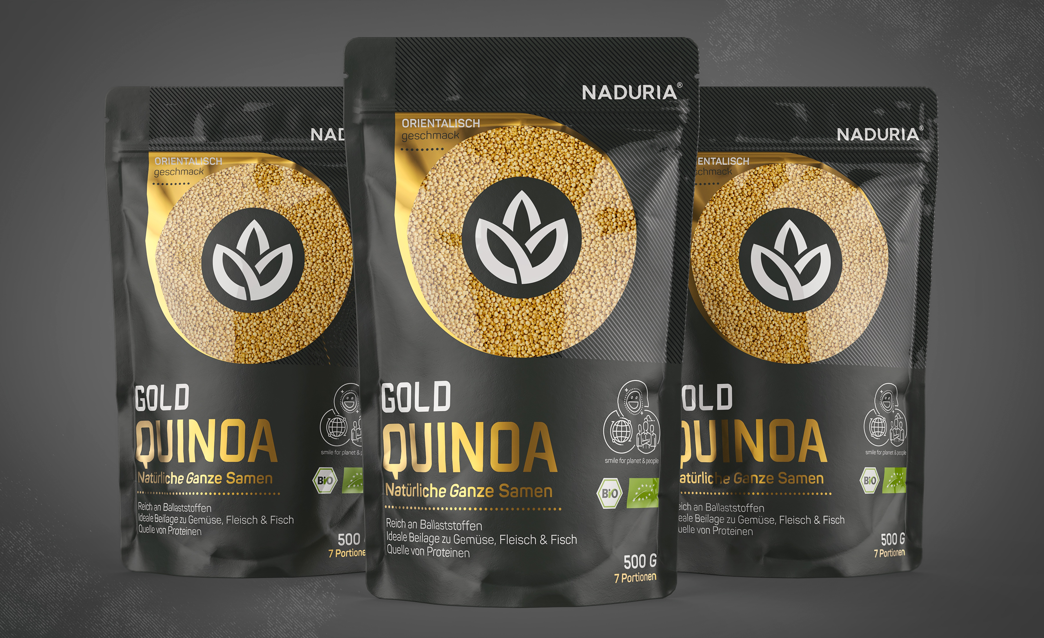 Naduria     quinoa gold   stand up pouch 500g   prototype concept v.1.1