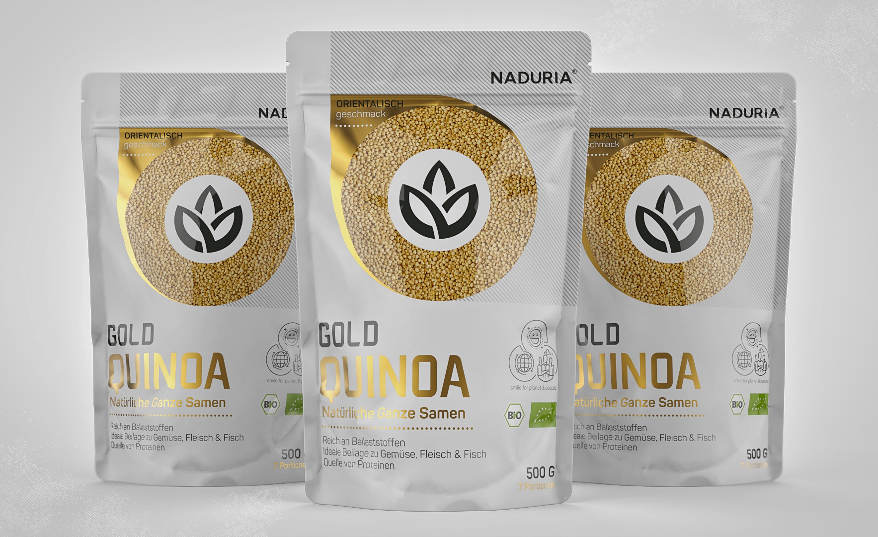 Naduria     quinoa gold   stand up pouch 500g   prototype concept v.2.1