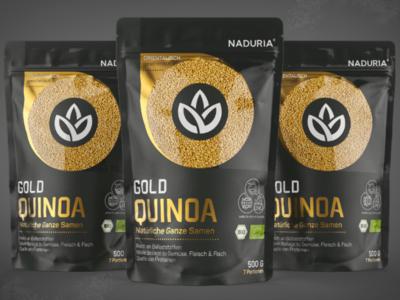 Quinoa Gold / Pouch Prototype & Label Design Front