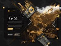 Naduria ® / Sign-Up Form design presentation