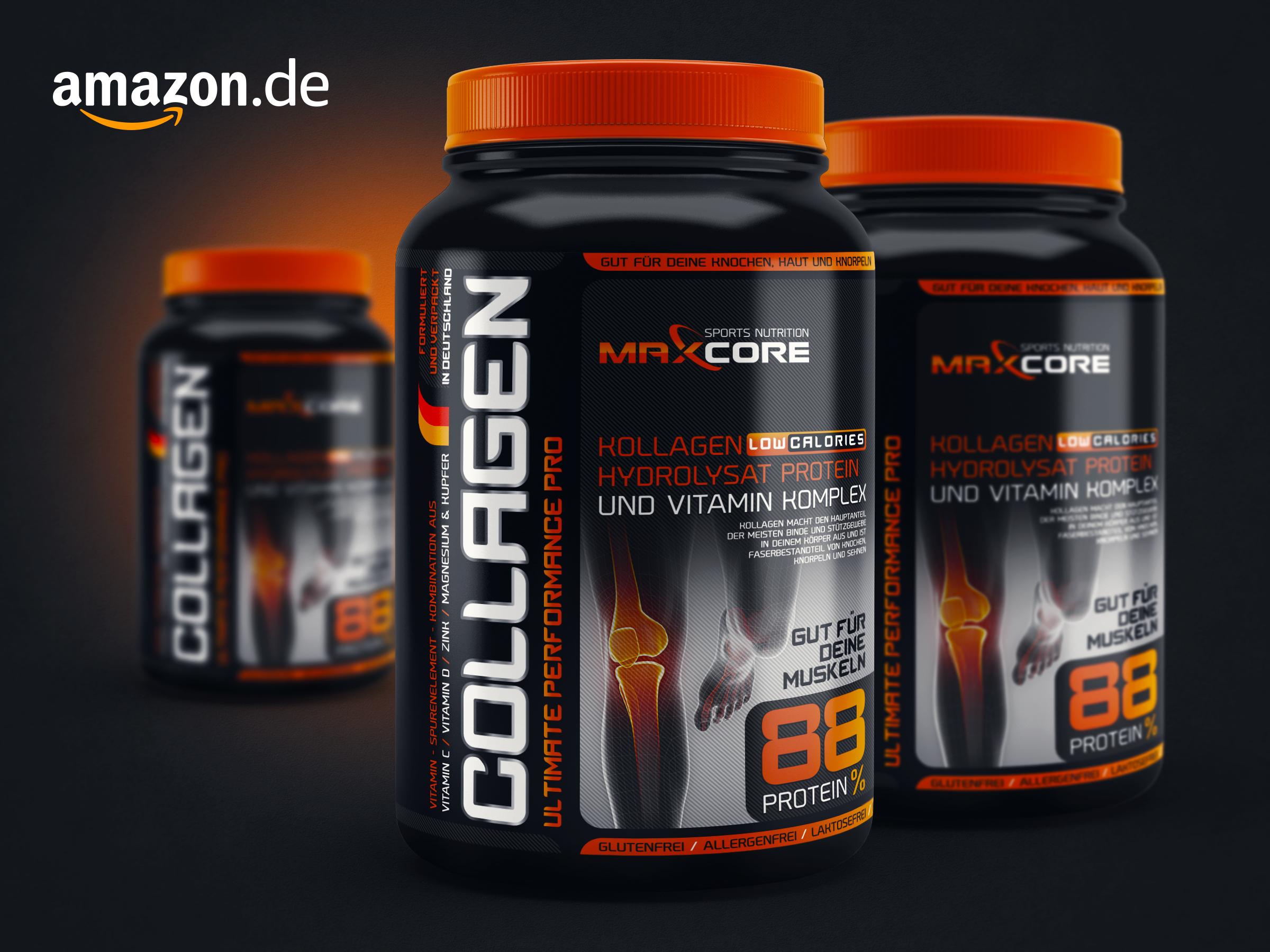 Maxcore     kollagen  product package design prototype
