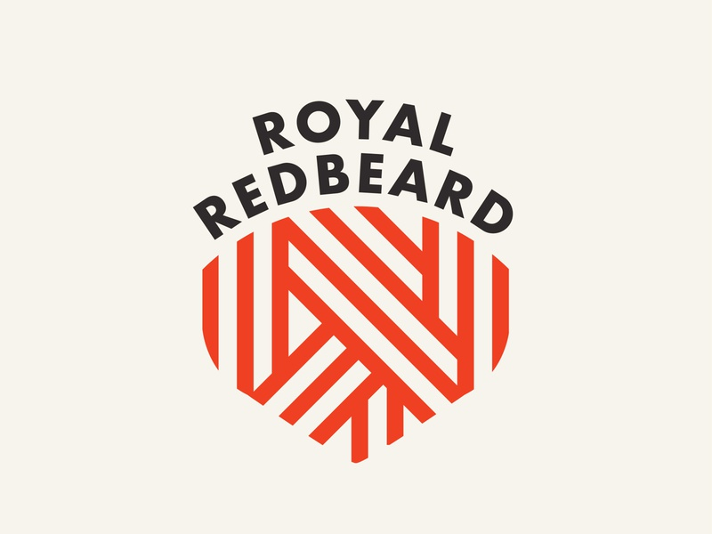 Royal RedBeard game streamer twitch branding type logo design typography