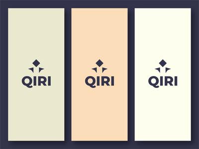 QIRI background check branding type logo