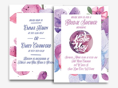 Bridal Shower Invites paint shower bridal bridal shower wedding watercolor print texture invites