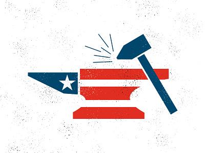 Work Hard, America freedom july 4th labor day american flag usa flag work hammer anvil texture america