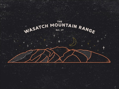 The Wasatch Mountain Range texture icon line art slc utah mountain mountain range