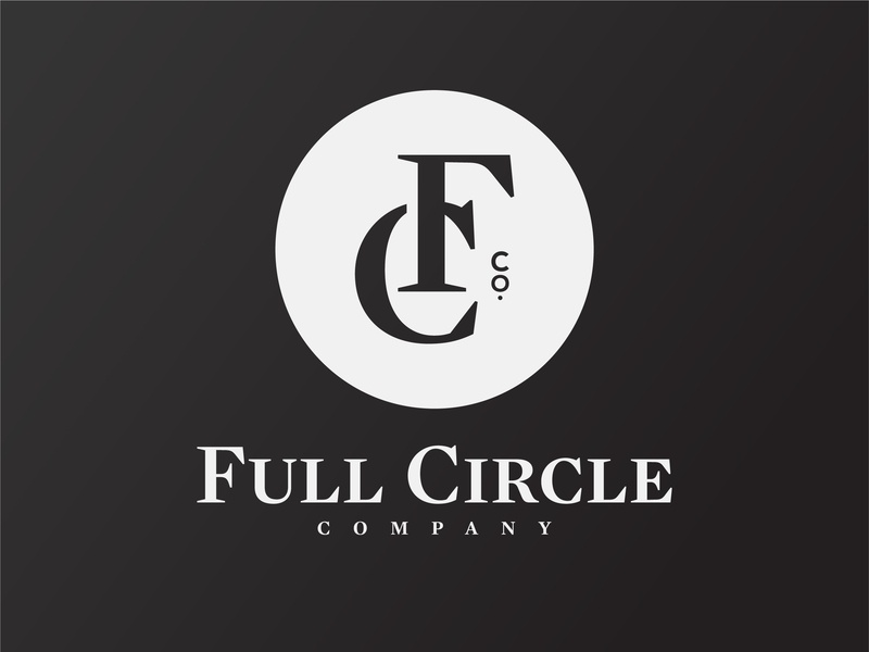 Full Circle Co. fc jewelry cymbals circle full circle full circle co monogram type logo typogaphy badge logo