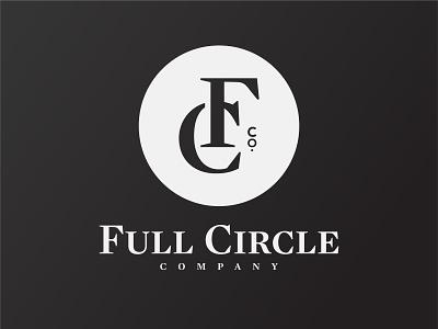 Full Circle Co. fc jewelry cymbals circle full circle full circle co monogram type logo typogaphy badge logo