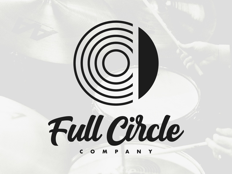 Full Circle Co. - Icon circle full circle design branding illustration typography jewelry drums lockup cymbal logo icon