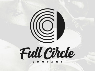 Full Circle Co. - Icon circle full circle design branding illustration typography jewelry drums lockup cymbal logo icon