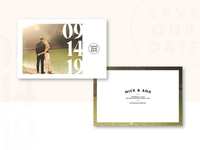 N&A Save the Date design typogaphy print invite save our date save the date wedding