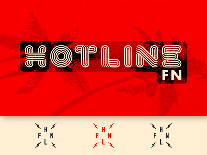 Hotline FN logo synth podcast radio vintage fortnite hotline twitch