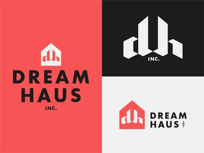 Dream Haus inc. haus dream branding icon design logo typography