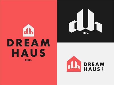 Dream Haus inc. haus dream branding icon design logo typography