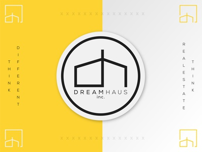 Dream Haus monogram logo monogram dh dream realestate branding icon logo design typography