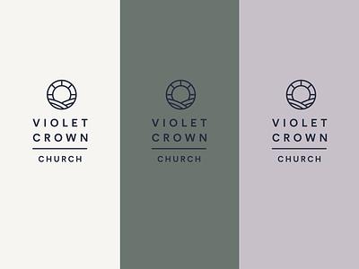 Violet Crown Church austin texas church crown texas identity branding logo