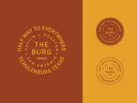 The Burg crest branding sticker badge typography san antonio houston austin texas