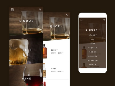 Delivery App ll wine ui mobile ux mobile ui mobile nav dropdown mobile liquor delivery beer app