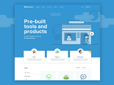 App Store Landing Page marketplace shopping ecommerce store store front illustration landing page apps app store