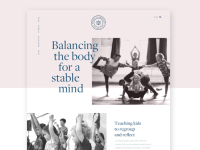 Sonima Homepage kids balance mind body ui website logo branding education yoga
