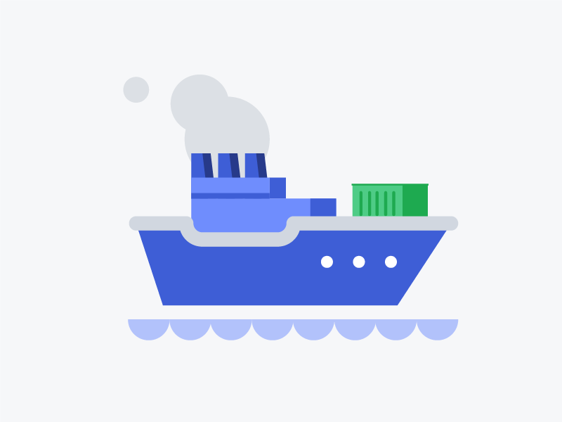 Shipping Options Illustration illustration cargo ship water sea boat freight shipping