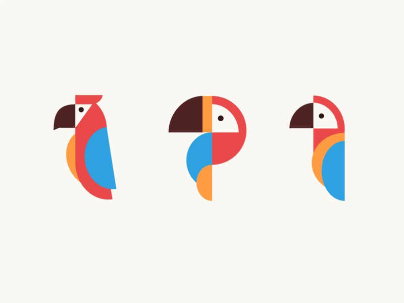 Tropical Birds colorful bird costa rica logos branding hawk macaw toucan illustration birds
