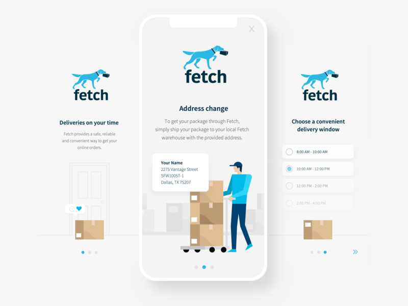 Delivery App intro screens ui ux ecommerce shipping illustration mobile delivery app